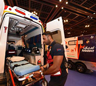 The new infection control unit ambulance at IECM 2016